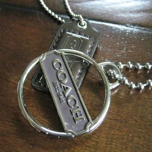 Coach Purple & Silver Hang Tags
